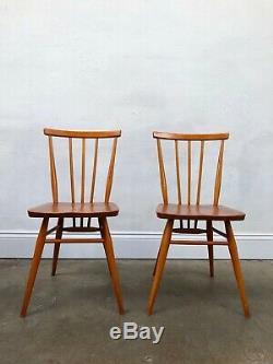 Chaises De Salle À Manger Ercol 2 X 391 Vintage Des Années 60. Retro Danois. Livraison