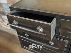 Coffre Antique Industriel De Buffet De Buffet De Cabinet De Cabinet De 8 Tiroirs X
