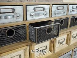 Coffre De Stockage De Style Rétro Vintage De 25 Tiroirs De Cabinet Industriel De Couleur Multi