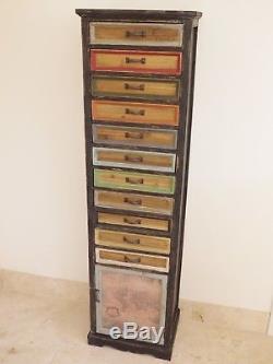 Commode De Rangement Multicolore De Style Multi De Couleur Rétro De Coffre Vintage Peint