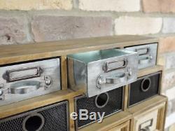 Commode Industrielle Vintage D'unité De Stockage De Buffet De Placard De Cabinet Ca De Tiroirs