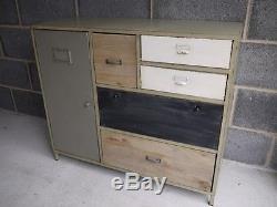 Console De Rangement De Style Rétro Vintage Industrielle Avec Console De Rangement Multi Style Rétro