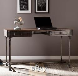 Console Métal Table Vintage Industriel Bureau Hall D'entrée Mobilier Tiroirs De Rangement