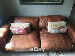 Cuir De Buffle Brun En Cuir De Sofa Extra Large, Paire Disponible