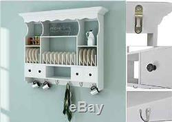 Cuisine Mur Cabinet Dresser Vintage Suspendus Stockage Cookware Unité Plaques Rack