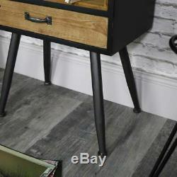 Dépôt Industriel Cabinet Table Rétro Côté Stockage Rustique Bureau Armoire Nouveau