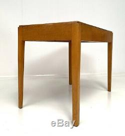 Desk Vintage Écrire En Bois / Cuisine Salle Table 1950 Ex Mod École / Usine