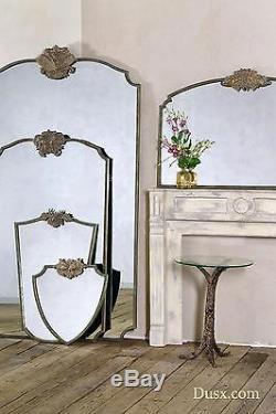 Dusx Woodland Rabbit Antique Gold Metal Engrenant Grand Miroir Antidémarrage 122x83cm