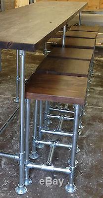 Échafaud Rétro Vintage Industriel Haut De Table De Salle De Réunion De Salle À Manger D'upcycled Chic