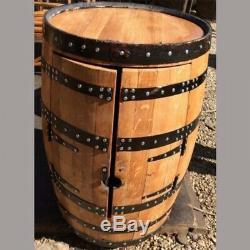 En Chêne Massif Recyclé Whisky Pub Barrelwine Rack Boissons Cabinet Cask Keg