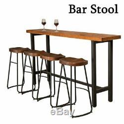 Ensemble De 1/2/4 Tabourets De Bar Industriels En Bois Et Cuisine Petit Siège Chaise Haute Uk