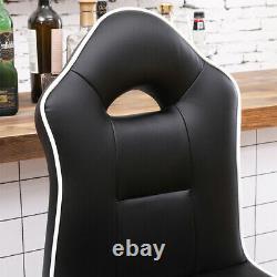 Ensemble De 2 Tabourets De Bar Chaises De Petit Déjeuner Chaises À Manger Hauteur Réglable Home Black