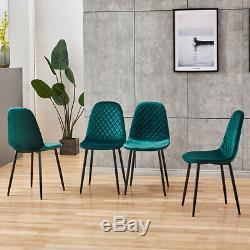 Ensemble De 4 Restaurants Velvet Chaises Chaises Longues Salle À Manger Cuisine Gris Vert Bleu
