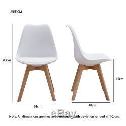 Ensemble De Chaises De Salle À Manger En Bois Design Tulip Chair Retro En Plastique Lounge Cuisine