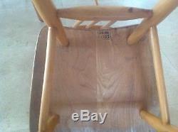 Ercol 1960 Table Et 4 Chaises
