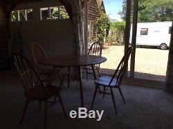 Ercol Drop-leaf Table Et 4 Chaises