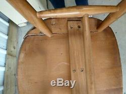 Ercol Rétro Superbe Quaker Windsor 365 Chaise De Cuisine X 4