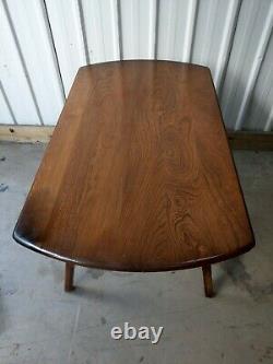 Ercol Vintage Retro Drop Leaf Économiseur D'espace Étendant Table De Cuisine À Manger #2