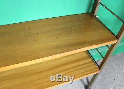 Étagère Vintage Ladderax, Baie Simple, 6 Étagères, Bibliothèque, Teck, Échelles En Or