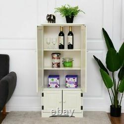 Étagères De Rangement Pour Armoires De Cuisine Larder Blanc En Bois