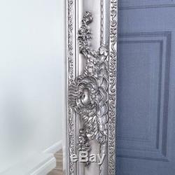 Extra Large Argent Miroir Très Ornement Cadrage Mur Accueil 200cm X 100cm