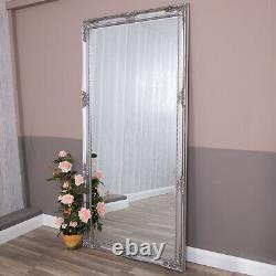 Extra Large Silver Mirror Ornate Full Length Wall Home Decor 200cm X 100cm