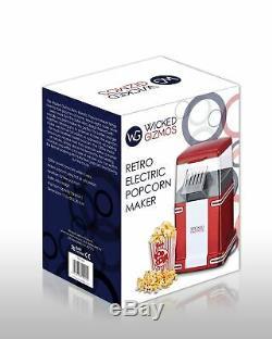 Fat-free Hot Air Popcorn Maker / Popcorn Popper Style De La Machine Retro 50