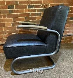 Fauteuil En Cuir Slab Industriel / Warehouse Vintage Retro Style Prix De Vente Conseillé 799 £