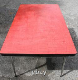 Formica Unité Et Enfilade 1950 / Table À Rallonge 1960 (rouge)