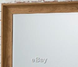 Fraser Leaner Full Length Sol Miroir Suspendu Effet Chêne 60x25 152 X 63cm