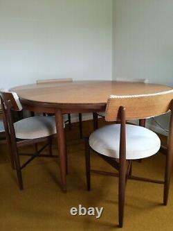Gplan Fresco Teck Massif Extension Table À Manger Et 4 Chaises Rétro