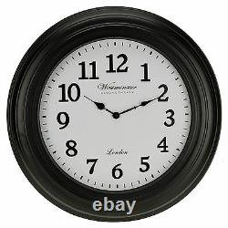 Grand 50cm Westminster Wall Clock Home Decor Modern Round Number Time Display