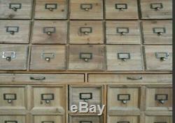Grand Apothecary Cabinet Mercerie Unité De Rangement Commode Commode
