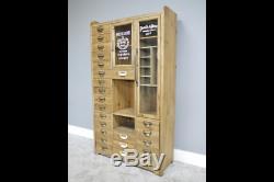 Grand Buffet D'armoire De Style Apothicaire Vintage Industrial Vintage