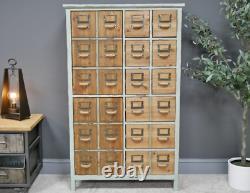 Grand Cabinet Industriel Vintage Retro Apothicaire Rustique Metal Storage Tallboy