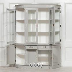Grand Écran De Commode De Couleur Gris Vintage Acajou Cabinet Home Decor Stockage