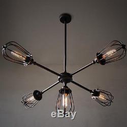 Grand Lustre Vintage Plafonniers Cuisine Pendentif Éclairage Boutique Noir Lampe