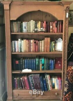 Grand Meuble Bibliothèque Vintage En Pin Dépoli