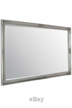 Grand Miroir Mural X Argent Vintage Biseautées 5ft6 X 3ft6 165.5cm X 105.5cm