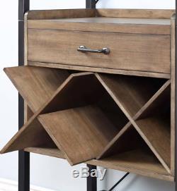 Grand Rack Vin Cabinet Vintage Industriel Métal Unité De Stockage Cuisine Home Bar