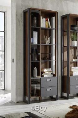 Grand Stockage Vintage D'unité D'affichage De Grand Cabinet De Style Industriel De Bibliothèque