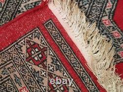 Grande Énorme Antique / Vintage Tapis De Tapis Pers Ian Bok-hara 186cm X 279cm