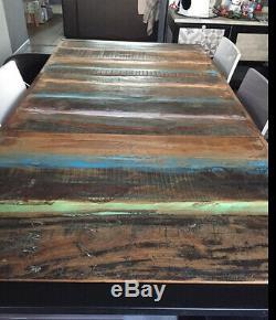 Grande Table De Salle À Manger Industrielle Cuisine Salle À Manger Vintage Retro Meubles Rustique