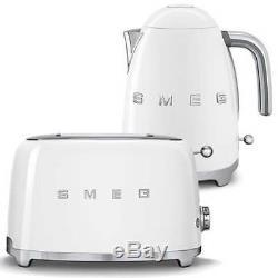 Grille Smeg Retro White Avec Grille-pain 2 Tranches Klf03whuk & Tsf01whuk Neuf
