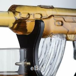 Gun Lovers Grand Bullet Carafes Lunettes Limited Edition Élégante Gun Fusil