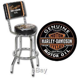 Harley-davidson - Chaise De Cuisine Pour Tabouret De Bar