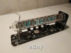 Horloge De Tube Nixie Bureau Assemblé De Tube Cru Iv-18 Tube De Glace Horloge Adafruit Vfd