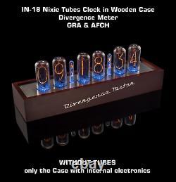 Horloge De Tubes Nixie En 18 Nixie En Bois De Divergence Mètre Sans Tubes Gra & Afch