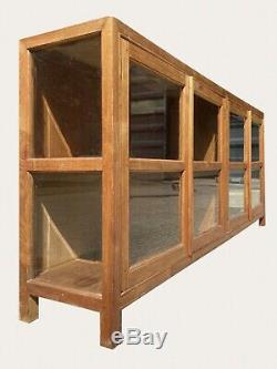 Immense Baie Vitrée Bespoke W241cm Vintage Display Cabinet Shop Chine Armoire Bibliothèque