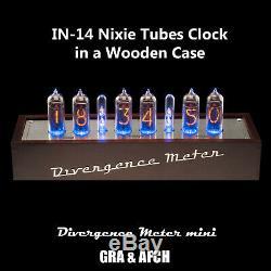 In-14 Nixie Tubes Horloge (musique, Usb, Rgb, Arduino) Divergence Compteur Gra & Afch